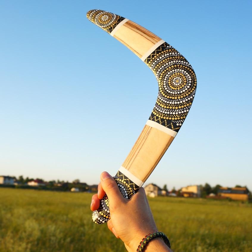 Boomerang Silver Sun wooden boomerangs for sale d