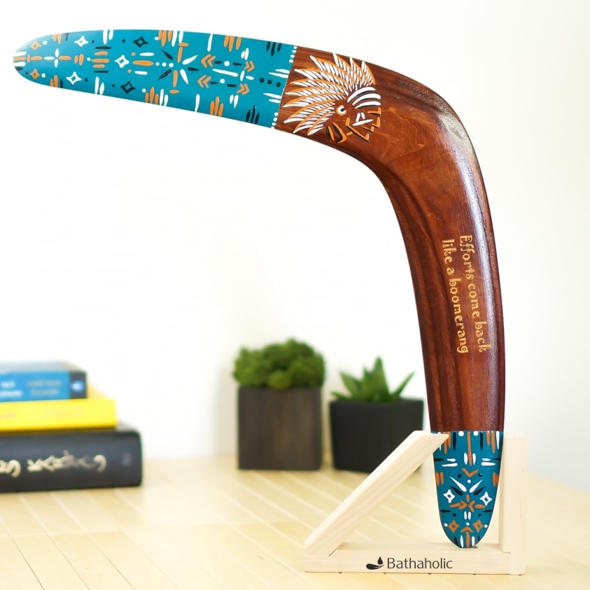 Boomerang Injun best wooden personalized gift