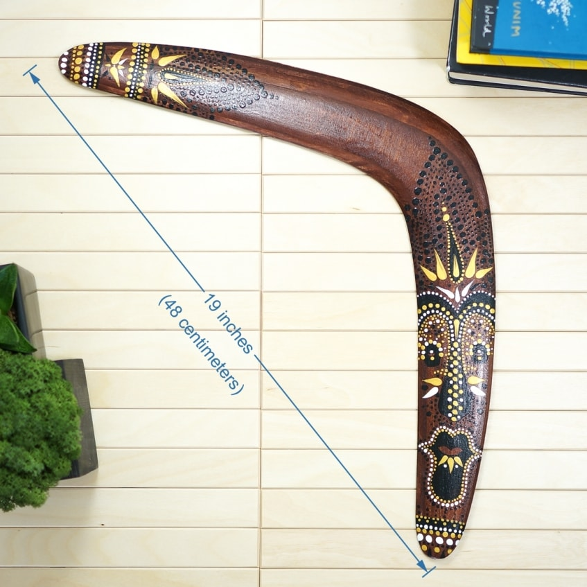 Boomerang Aboriginal personalized wood gifts to Australia c